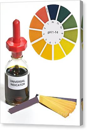 Stopper Canvas Print - Universal Indicator Solution And Paper by Martyn F. Chillmaid