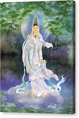 Canvas Print featuring the photograph Universal Kuan Yin by Lanjee Chee