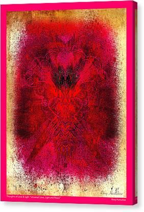 Universal Love Light Peace Pink Border Canvas Print