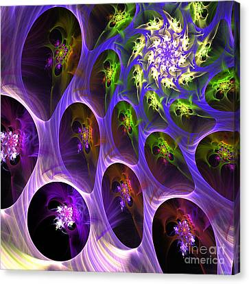 Canvas Print featuring the digital art Universal Pods by Arlene Sundby