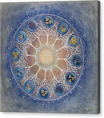 Universal Tree Of Life Canvas Print by Janelle Schneider