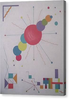 Universe 1 Canvas Print by Inge Lewis