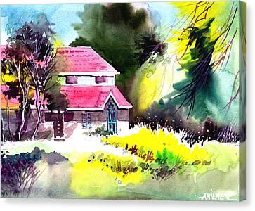 University 2 Canvas Print by Anil Nene