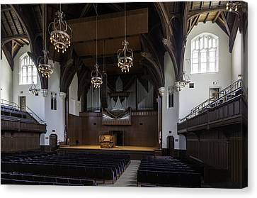University Auditorium And The Anderson Memorial Organ Canvas Print by Lynn Palmer