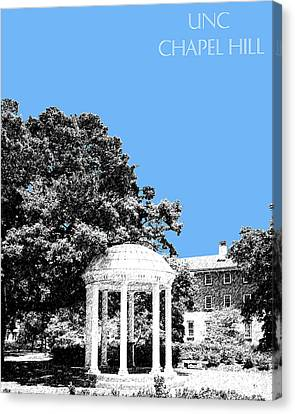University North Carolina Chapel Hill - Light Blue Canvas Print by DB Artist
