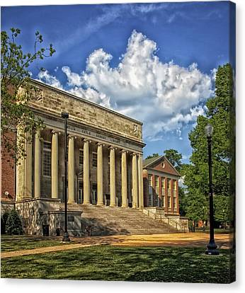 University Of Alabama Library Canvas Print by Mountain Dreams