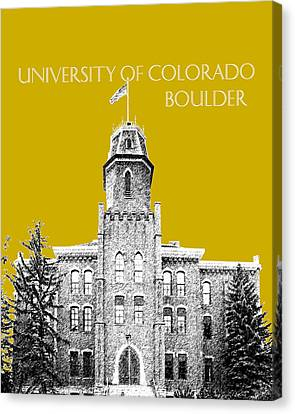 University Of Colorado Boulder - Gold Canvas Print by DB Artist