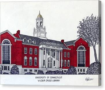 University Of Connecticut Canvas Print by Frederic Kohli