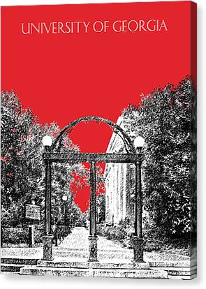 University Of Georgia - Georgia Arch - Red Canvas Print by DB Artist