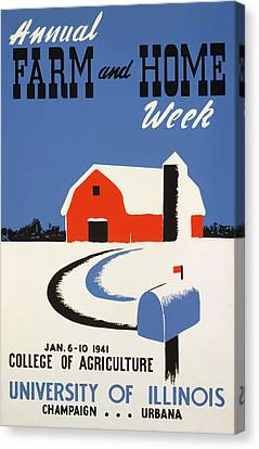 University Of Illnois Farm And Home Week Canvas Print by American Classic Art