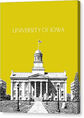 Campus Canvas Print - University Of Iowa - Mustard Yellow by DB Artist