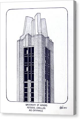 University Of Kansas Canvas Print by Frederic Kohli