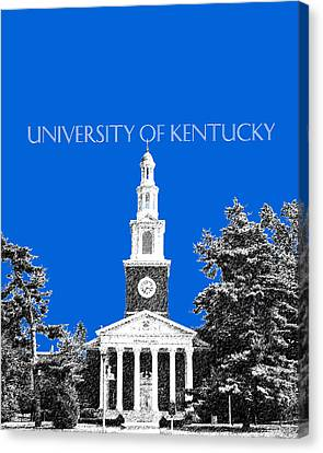 Memorial Hall Canvas Print - University Of Kentucky - Blue by DB Artist
