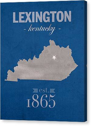 University Of Kentucky Wildcats Lexington Kentucky College Town State Map Poster Series No 054 Canvas Print