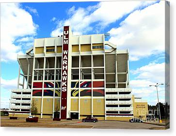 University Of Louisiana At Monroe Malone Stadium Canvas Print by Kathy  White