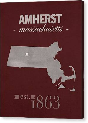 University Of Massachusetts Umass Minutemen Amherst College Town State Map Poster Series No 062 Canvas Print by Design Turnpike
