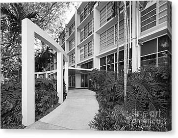 University Of Miami Eaton Residential College Canvas Print by University Icons