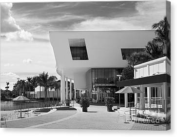 University Of Miami Weeks Center Canvas Print by University Icons