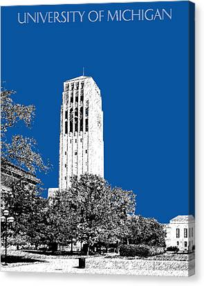 Memorial Canvas Print - University Of Michigan - Royal Blue by DB Artist
