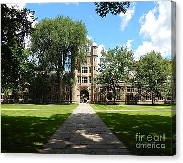 University Of Michigan Law Quad Canvas Print by Phil Perkins