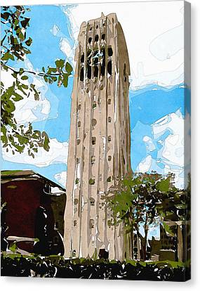 University Of Michigan Tower Abstract Canvas Print by Phil Perkins