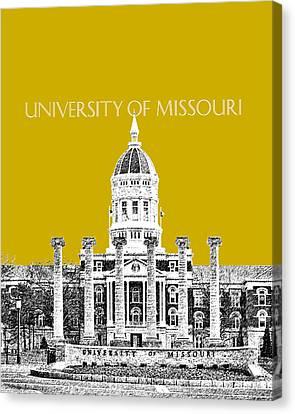 University Of Missouri - Gold Canvas Print by DB Artist