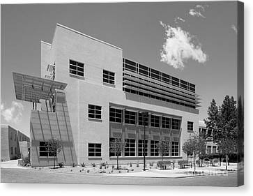 University Of New Mexico Castetter Hall Canvas Print by University Icons