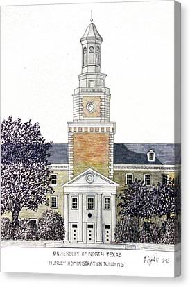 University Of North Texas Canvas Print by Frederic Kohli