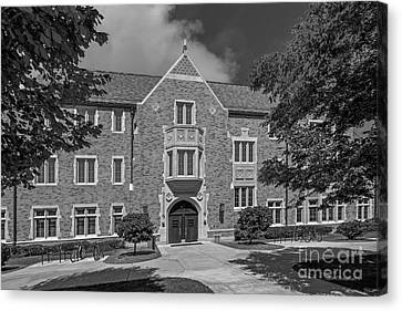 Big East Conference Canvas Print - University Of Notre Dame Coleman- Morse Center by University Icons