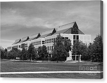 Big East Conference Canvas Print - University Of Notre Dame De Bartolo Hall by University Icons