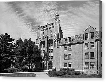 University Of Notre Dame Morrissey Hall Canvas Print by University Icons