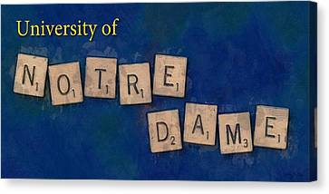 University Of Notre Dame Canvas Print by Sandy MacGowan