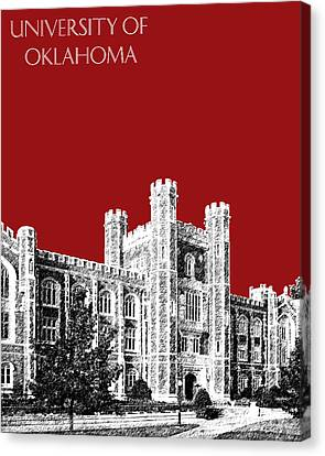 Campus Canvas Print - University Of Oklahoma - Dark Red by DB Artist