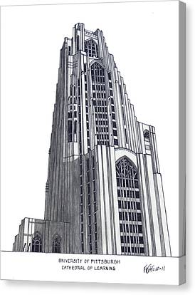 University Of Pittsburgh Canvas Print by Frederic Kohli