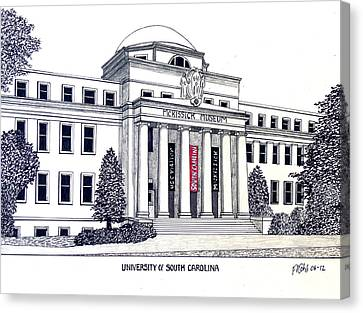 University Of South Carolina Canvas Print by Frederic Kohli