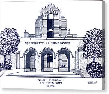 University Of Tennessee Canvas Print by Frederic Kohli