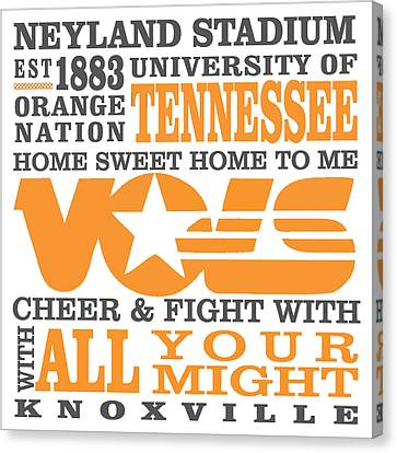University Of Tennessee Graphic Canvas Canvas Print