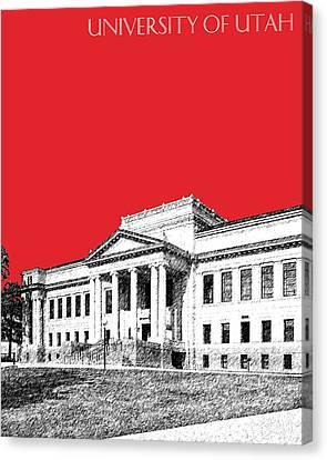 University Of Utah - Red Canvas Print by DB Artist