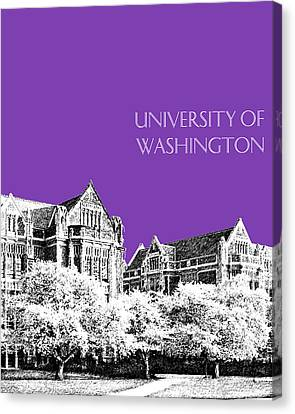 University Of Washington 2 - The Quad - Purple Canvas Print by DB Artist
