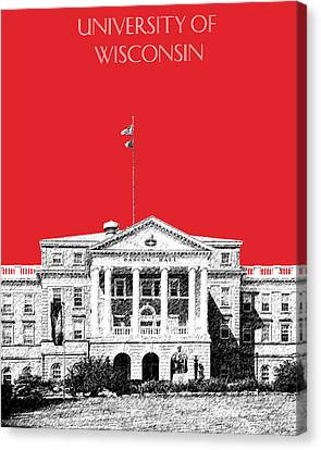 University Of Wisconsin - Red Canvas Print by DB Artist