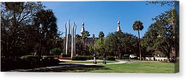 University Students In The Campus Canvas Print by Panoramic Images