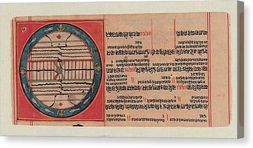 Unknown, Chart Of The Ja Jain Cosmos Canvas Print by Everett