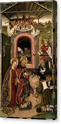 Unknown, Crib Altarpiece, 15th Century Canvas Print