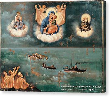 Unknown, Ex-voto. The Storm, 1895, 19th Canvas Print by Everett
