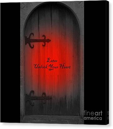 Canvas Print featuring the photograph Unlock Your Heart by Linda Prewer
