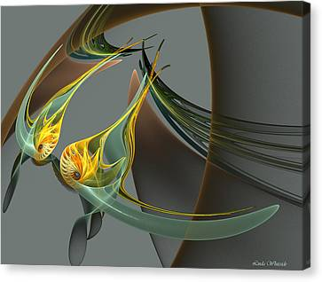 Fin And Wings Canvas Print by Linda Whiteside