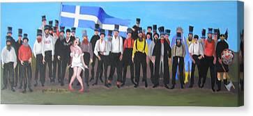 Unst Mail Voice Choir World Tour Canvas Print by Eric Burgess-Ray