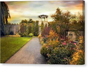 Garden Canvas Print - Untermyer Garden by Jessica Jenney