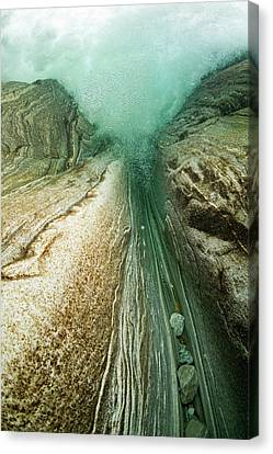 Unterwaterpicture From A Waterfall Canvas Print by Thomas Aichinger - Vwpics