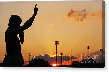 Cemetery Sunset Canvas Print by Charlie Cliques